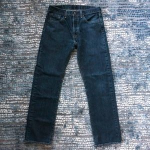 Levi's 501 Button Fly Straight Leg High Rise Jeans